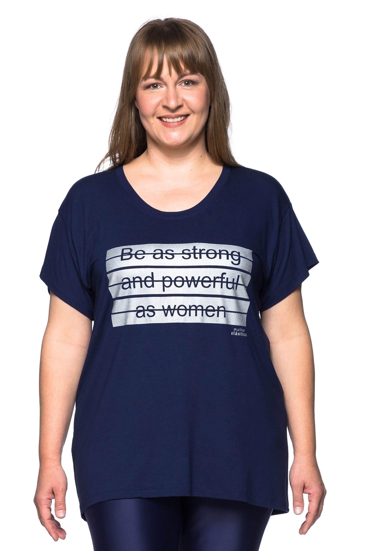 34f07de5e Camiseta Plus Size Merci – Roupa de academia tamanho maior – Mulher ...