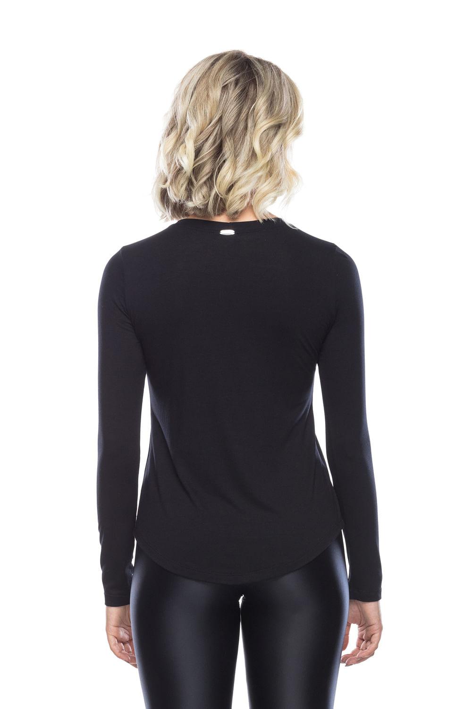 Camiseta-manga-lona-preta